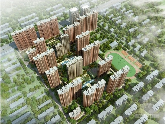 [合肥]某住宅区规划及单体建筑设计方案文本