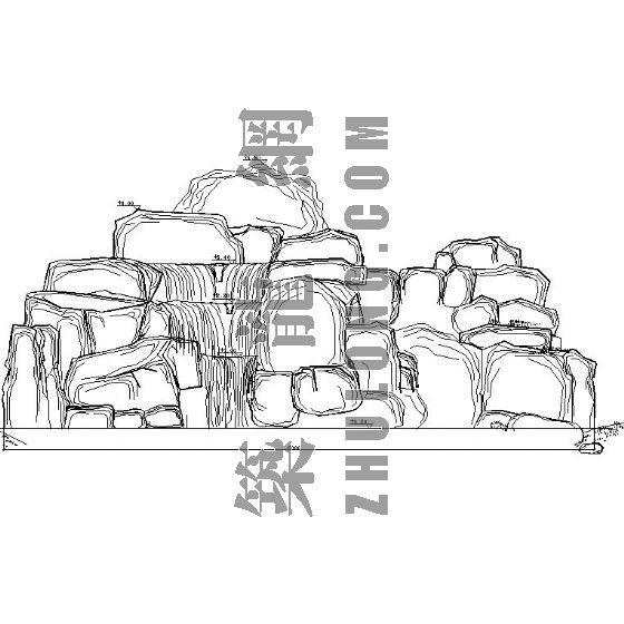 塑石瀑布假山施工详图