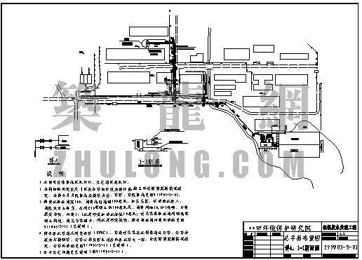 钽铌废水处理工程总平面布置图