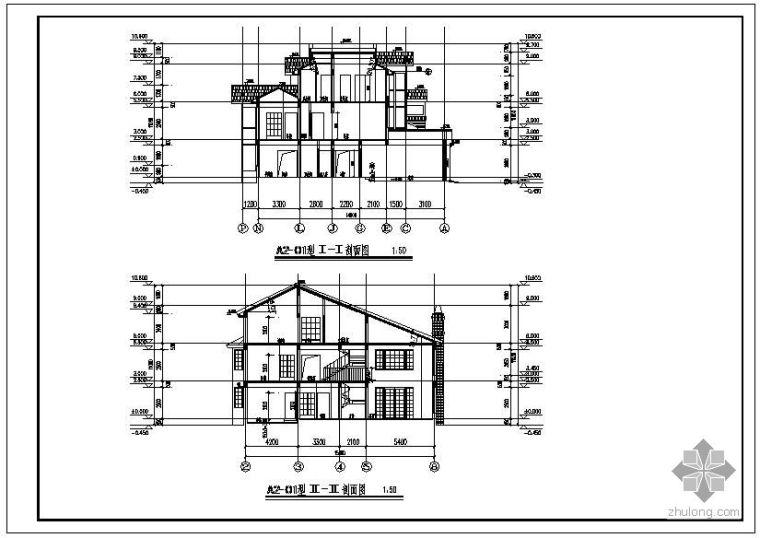 上海某砖混别墅结构设计图