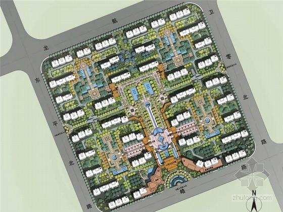 [上海]滨海法式古典居住区概念性景观规划设计方案