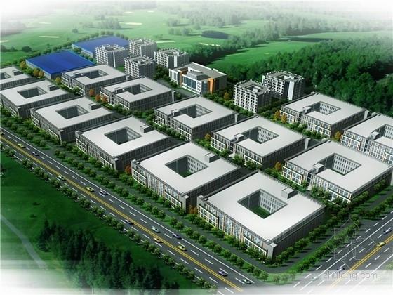 平面厂房规划规划文本资料下载-[湖北]开发区现代风格工业园规划设计方案文本