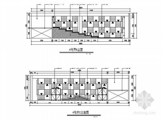 [天津]繁华商务中心室内娱乐现代影视城设计装修施工图(含效果)立面图