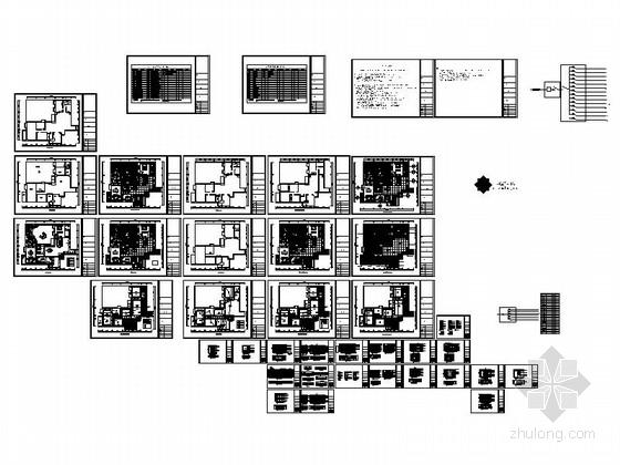 [广州]欧式风格三室两厅室内设计施工图 总缩略图