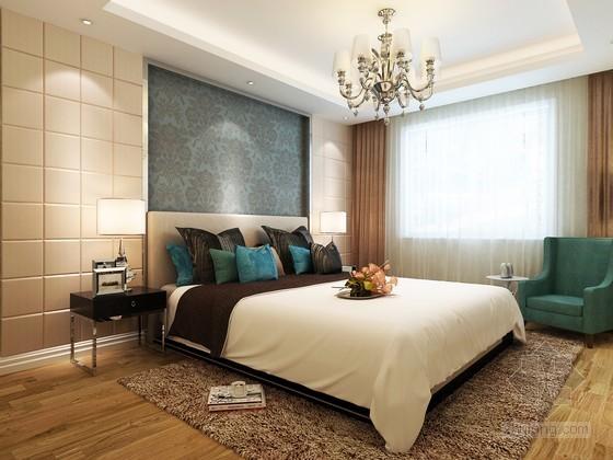 现代清新卧室3D模型下载