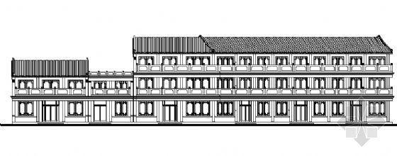 某仿古街建筑施工图
