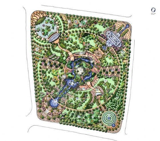 上海开放式绿地景观设计方案