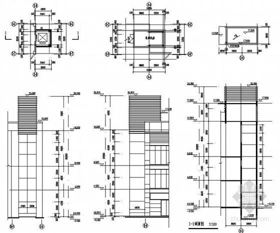 某附属电梯井道构造详图