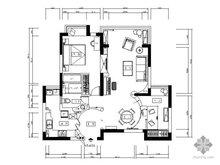 地中海二居室内装修方案