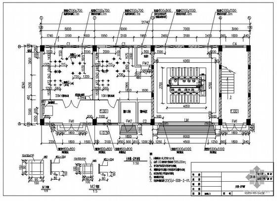 某变电站主变楼建筑结构图