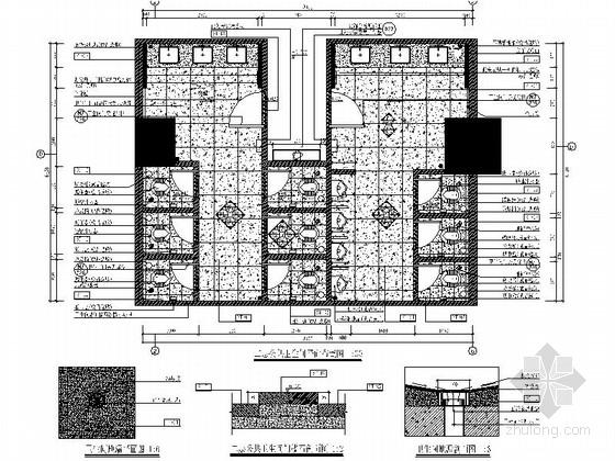 现代化国际酒店卫生间装修施工图