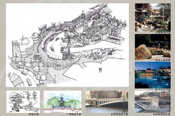 [广东]主题购物中心景观设计方案(超详细、全面)-景观示意图