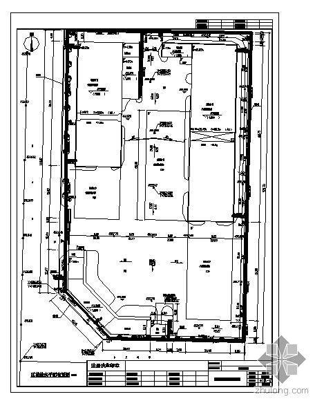 四川某机电设备公司厂区给排水管总平面图