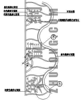 架空层拼花卵石路-1详图