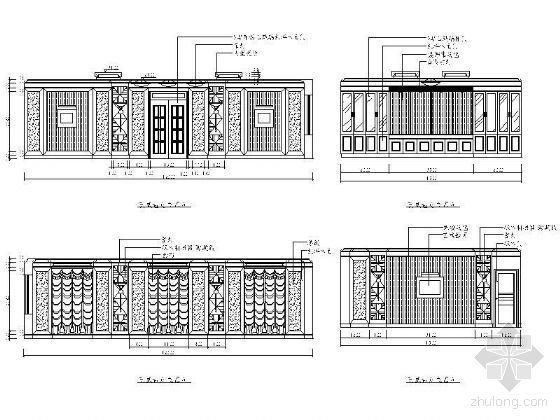 西式包房立面设计图Ⅱ