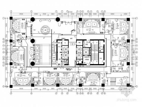 [重庆]超高层五星酒店KTV装修电气施工图纸(含包厢配电大样图)
