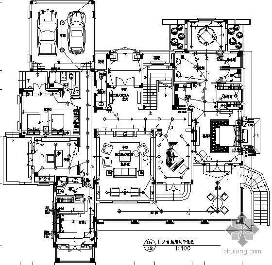某二层别墅酒店装修电气图纸