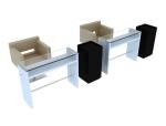 简约办公桌椅3D模型下载