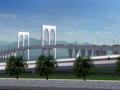 双层混凝土梁斜拉桥工程施工动画演示