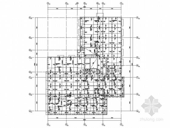 [成都]五层框架结构派出所结构施工图(含公厕)