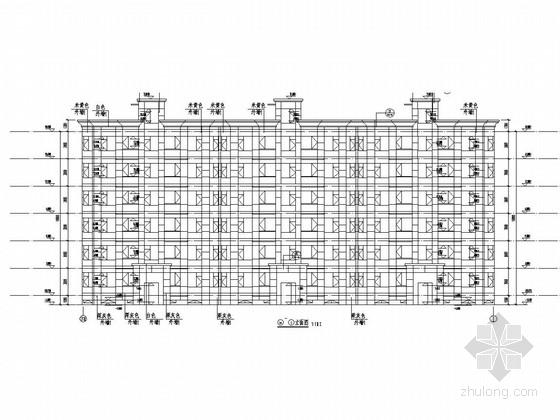 [北京]6层剪力墙结构半地下室公寓楼结构图(2栋含建施)