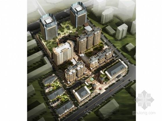 [内蒙古]现代风格住宅区规划及商业广场设计方案文本(含CAD)
