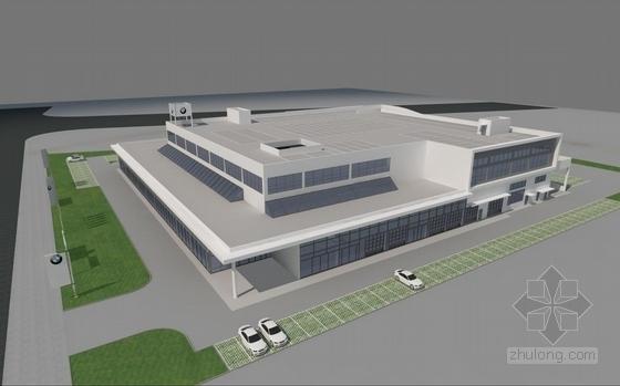 [南京]两层知名汽车4s店建筑设计方案图(含CAD及建筑模型)