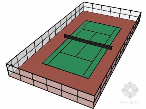 网球场地SketchUp模型下载
