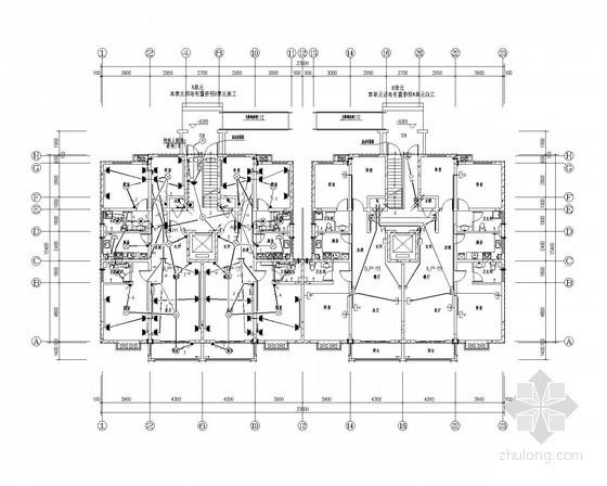 [河南]一类高层住宅楼强弱电全套施工图纸(甲级设计院、26层)
