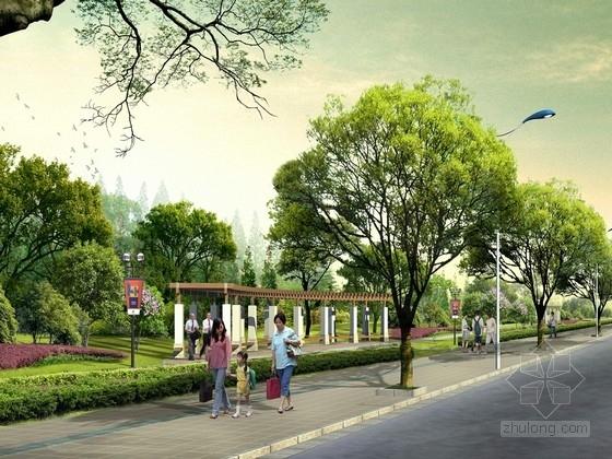 """[浙江]""""陶然沁芳""""为主题的道路绿化景观规划设计方案"""