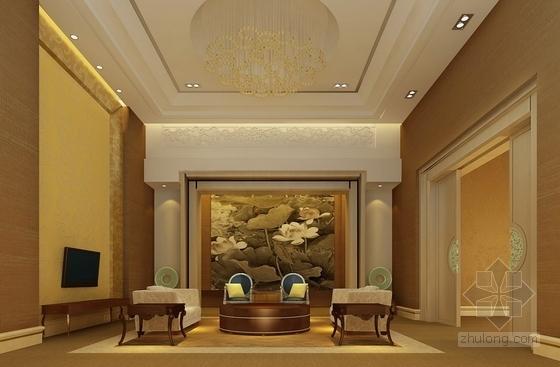 [广东]商业中心现代风格商务酒店2号楼室内设计方案客厅效果图