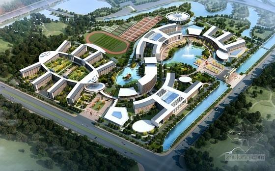 [江苏]现代风格大学新校区规划及建筑设计方案文本(苏式空间形式)