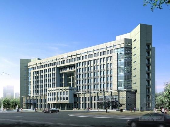[江苏]现代风格造型行政办公楼建筑设计方案文本(经典立面 含CAD)