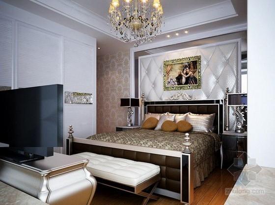 欧式新古典卧室3d模型下载