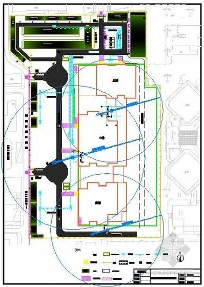 [北京]商业广场临建、临时、临电施工现场平面布置图