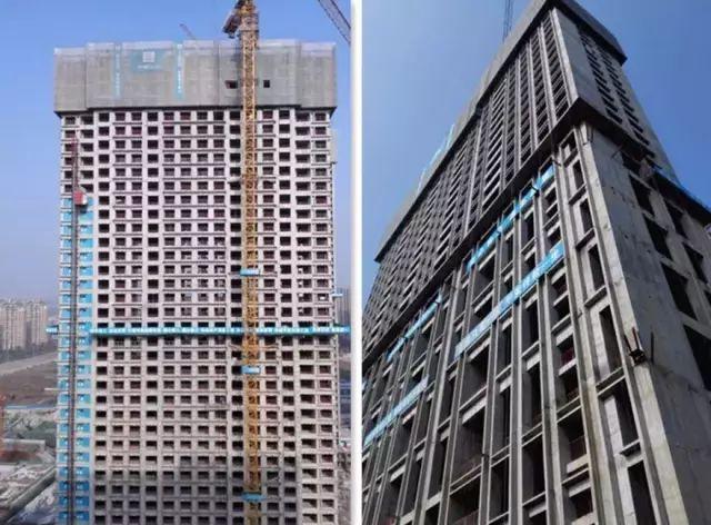 中建五局铝合金模板施工,效率高周期短,不用二次抹灰。