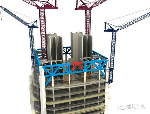 建筑结构丨超高层建筑钢结构施工流程三维效果图_16