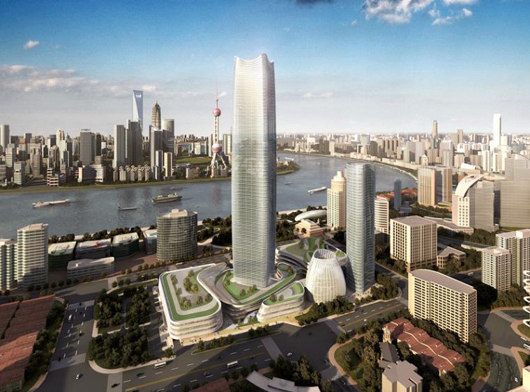 [上海]北外滩白玉兰广场办公塔楼(鲁班奖创优方案)