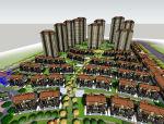现代居住小区规划建筑模型