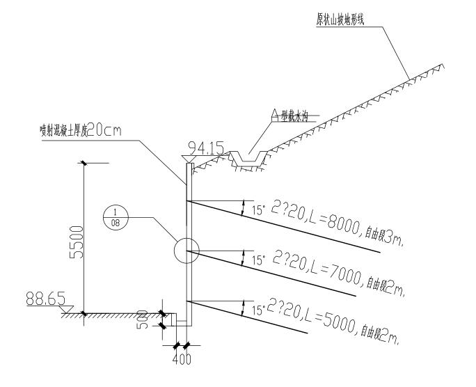 锚索挡土墙构造图(CAD、11张)
