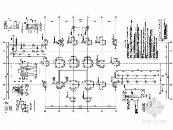 [湖南]地上二层框架结构食堂结构施工图