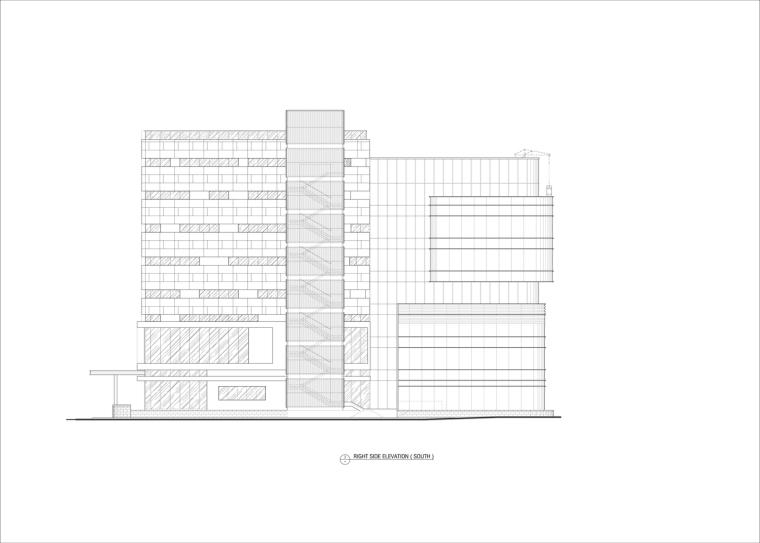 九转回环、流畅现代的车展大厅及办公楼设计_21