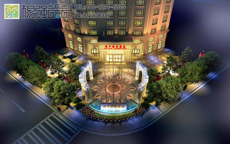 哈尔滨欧式建筑外观改造设计—杨强设计-10建筑外观-(夜景).jpg