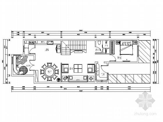 [原创]中式奢华大气别墅室内设计方案施工图(含效果图)