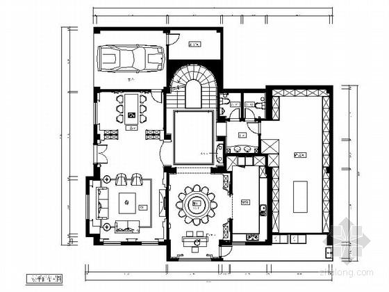 [福州]主题公园精品欧式四层别墅CAD装修图(含效果)