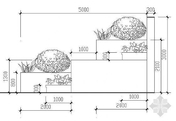 花池花坛挡墙做法详图