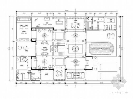 [北京]奢华欧式双层别墅设计方案图