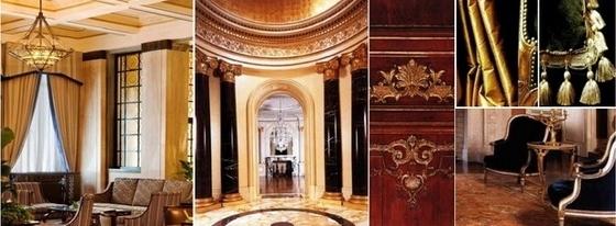 [佛山]高层住宅区奢侈欧式四居室样板间设计方案客厅意向图