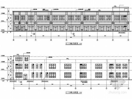 [浙江]两层框架结构面粉厂临时商业楼结构施工图