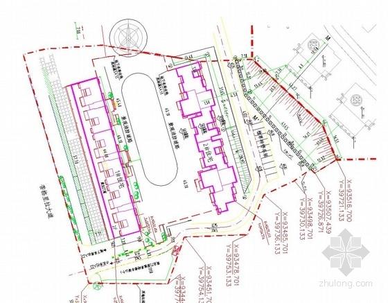 [湖南]13米高土质边坡挖孔桩锚索支护施工图(附计算书)